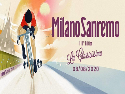 GARA DI CICLISMO MILANO-SANREMO 2020, APPUNTAMENTO SABATO 8 AGOSTO